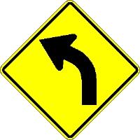 left arrow road sign